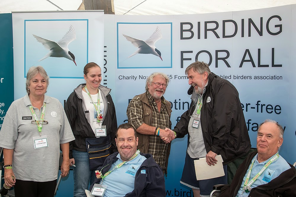 Bill Oddie and the Birding For All Team