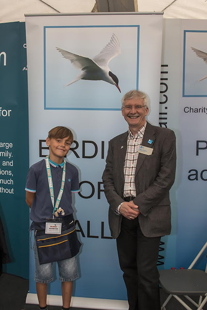 Toby Meeting Mike Clarke (CEO of the RSPB)