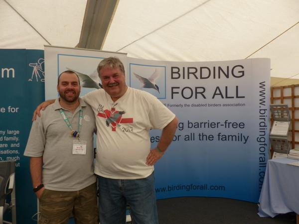 2015 Birdfair Review - Me and Mark Avery (Thanks Ann for the photo)