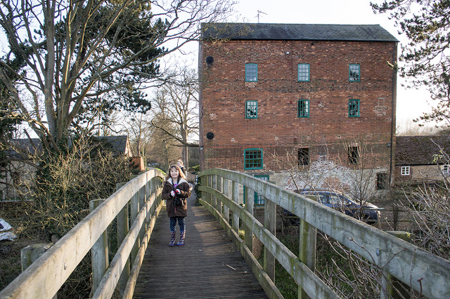 Bubs in front of the Old Mill