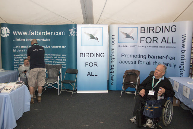 The stand at Birdfair 2016 all set up ready on day 1