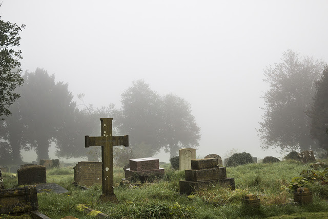 The Old Church Yard in Mist