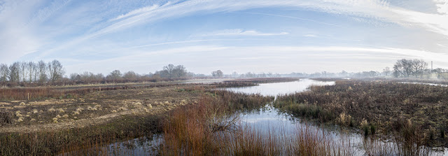 A 3 image Panorama view from the Aqueduct Hide