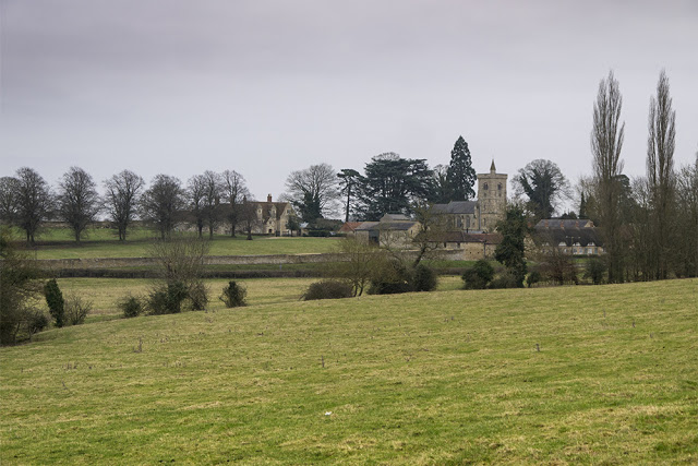 Closer photo of the church at Calverton