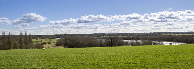Looking out over Linford Lakes