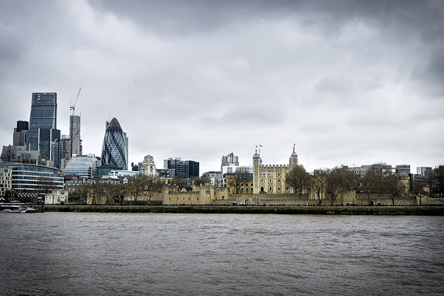 Across the river Views of The Tower of London and the Gerkin