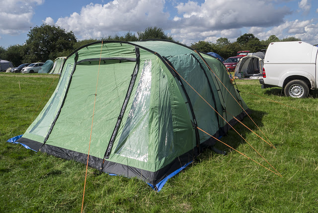 Coleman Mosedale 5 Tent - Review - Coleman Mosedale 5 tent erected