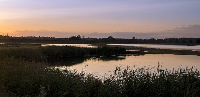Pink waters of Rutland at Sunset