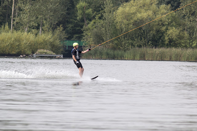Water skiing at Willen Lake (no idea who they are)