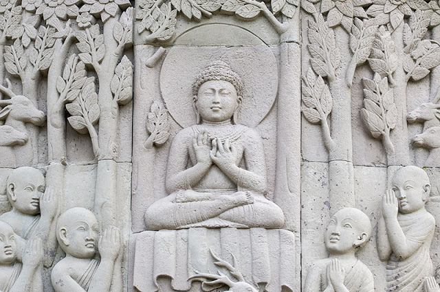 One of the friezes around the Peace Pagoda