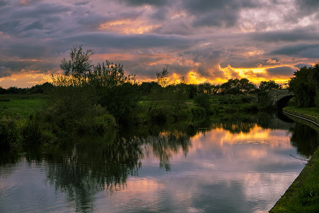 Golden Skies of Sunset over the Grand Union Canal