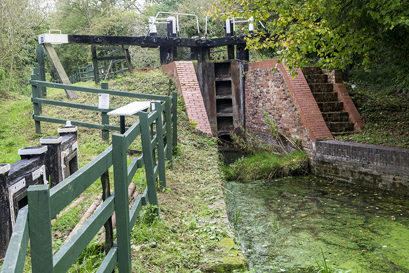 Restored Lock at Buckingham Canal Nature Reserve