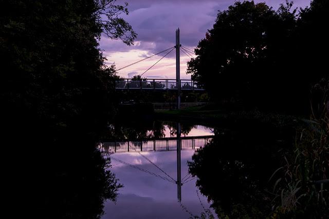 2500 Miles Sept Update - Bridge at New Bradwell purple skies