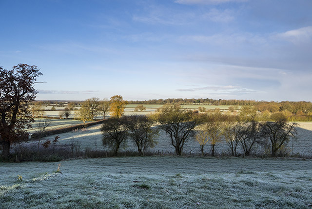 Ouse Valley Park in the Frost