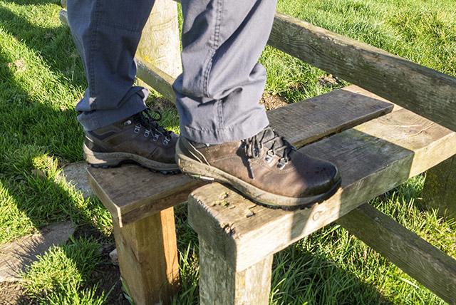 Stilish (see what I did there?) - Hi-Tec Altitude VI i boots on a stile